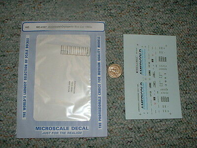 Microscale Decals Ho Mc 4107 Americold Cryogenic Box Car 1993   F130