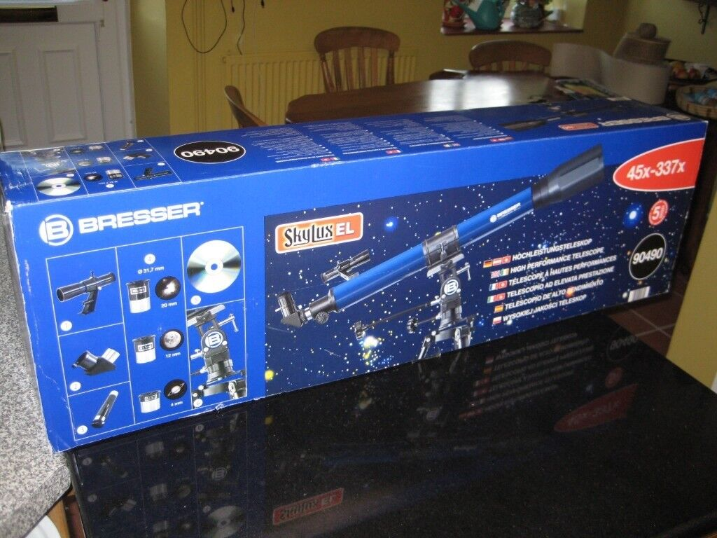 Bresser skylux el astronomy telescope used once complete in