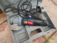 small RYOBI angle grinder
