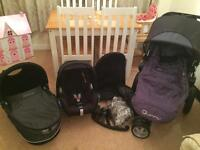 Black and purple quinny buzz travel system
