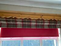 Dunelm Roman blind 6ft wide taupe and red check