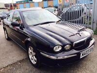JAGUAR X TYPE AUTOMATIC SE 2.1 V6 PETROL 2003 BLACK LEATHER SEATS SERVICE HISTORY. PARKING SENSORS