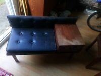Mini sofa with a drawer attatched