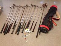 Set of Golf Clubs 18 Clubs in Golf Bag + Some Golf Balls/Tees