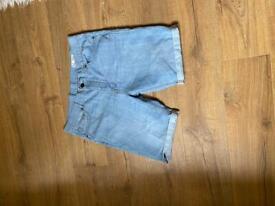 Blue Denim summer shorts UK 36