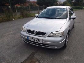 VAUXHALL ASTRA 1.6 CLUB AUTO (Silver) Geuine mileage perfect drive car. Very clean