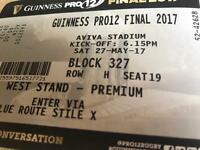 Rugby Final Tickets - Guinness pro 12