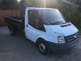 Ford transit tipper 100t350 102,000 miles ex bt fsh brand new tipping body