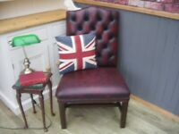 Stunning Oxblood Leather Chesterfield Chair