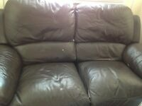FREE****Lazy Boy Reclining 2 seater brown leather sofa****FREE