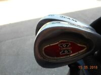 Used golf clubs and bag