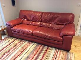 Leather 3-Seater Sofa