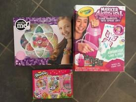 Bundle of 3 Girls Craft Sets