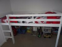 HOME Wooden Mid Sleeper Single Bed Frame - White in superb condition.