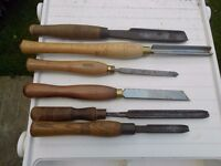 wood turners chisels in good order