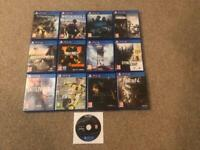 13 PS4 games. * Need Gone ASAP*