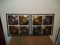 METALIC WALL ART NEVER USED PERFECT CONDITION,49cms,by49cms,SQUARE BOUGHT IN IKEA