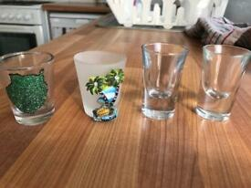 4 shot glasses