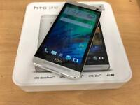 HTC One M7 silver 32gb 4G factory unlocked boxed as new