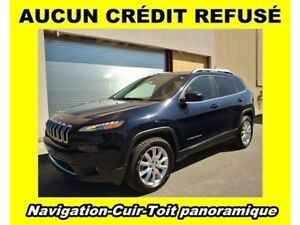 2016 Jeep Cherokee LIMITED 4X4 NAVIGATION CUIR *TOIT PANORAMIQUE