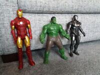"""10"""" Marvel action figures Hulk Iron Man"""