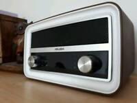 Bush Radio / Alarm Clock / Brown / Vintage Style