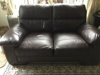Lovely brown leather sofa good clean condition ,non smokers no breaks or rips .