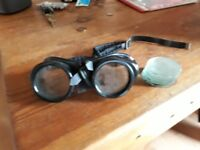 1950's welders goggles make awesome cosplay or fancy dress item
