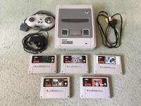 SNES Super Nintendo Console Bundle WITH GAMES