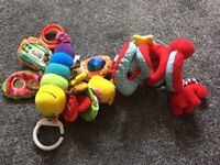 Pram toys x 2 mothercare and Lamaze