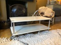 Stylish Habitat coffee table/ TV Table – modern industrial look, in good condition.