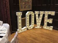 Giant Light Up Letters - for hire