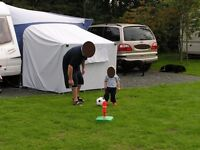 Caravan Awning with Twin Annexes complete with Inner Tents. Ideal Family Size (975)
