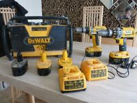 Dewalt Radio plus 218V heavy duty drills plus chargers