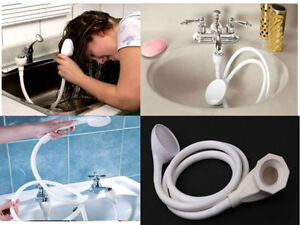 Single Double Tap Bath Sink Shower Head Hose Spray