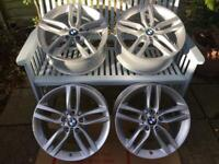 "18"" Bmw genuine m-sport set of alloy wheels"