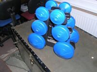 Set of hand dumbells for sale.