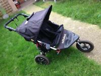 360 out n about double pushchair - excellent condition