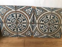 Merola tiles Moroccan blue and yellow