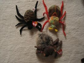 Ty Beanie Babies - Spiders & Beetle