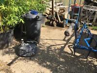 Pond Pump and pressure filter