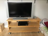 TV stand with 3 shelves on wheels