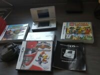 Nintendo DS Lite in Silver inc Power Rangers Super Legends 15th Anniversary
