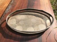 Vintage Cavalier Silver Plated Tray, Harrods London
