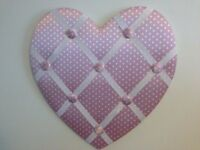 Next Love Heart Shaped Pink Pin Board
