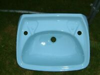 Sky Blue Hand Basin, never been installed just as it came from Builders merchants.