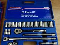 "Brand new Westward 20 piece 1/2"" Drive socket wrench set"