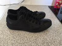 Converse black leather size 5