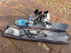 Burton Floater, Bindings, Boots and Bag