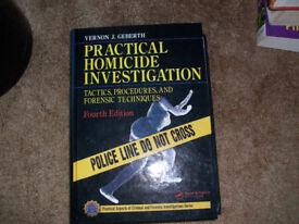 Forensic Medicine Textbook Practical Homicide Investigation by Vernon J Geberth Heavy Hardback